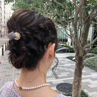 結婚式 二次会 ミディアム 二次会ヘア ヘアスタイルや髪型の写真・画像