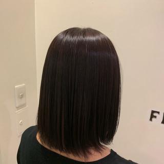 縮毛矯正 ショート ショートヘア ストレート ヘアスタイルや髪型の写真・画像