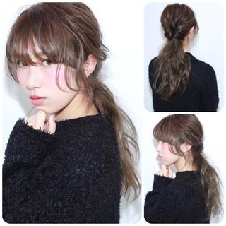 フェミニン ロング ショート ゆるふわ ヘアスタイルや髪型の写真・画像