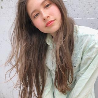 ガーリー 透明感 スポーツ ロング ヘアスタイルや髪型の写真・画像