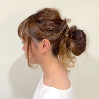 ヘアアレンジ ロング お団子 ショート ヘアスタイルや髪型の写真・画像
