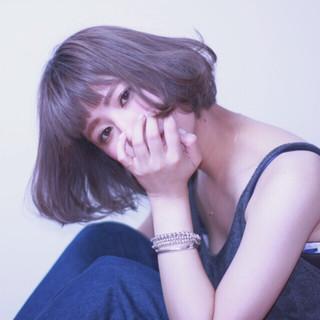 モード ニュアンス ボブ 女子会 ヘアスタイルや髪型の写真・画像