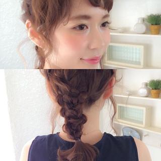 ミディアム 前髪あり 二次会 ヘアアレンジ ヘアスタイルや髪型の写真・画像
