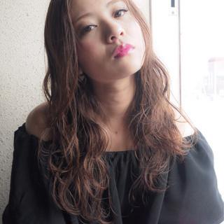 オフィス グレージュ セミロング モテ髪 ヘアスタイルや髪型の写真・画像