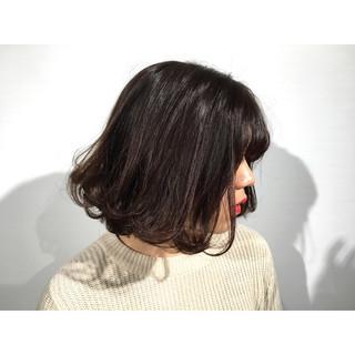暗髪 ストリート ボブ 外ハネ ヘアスタイルや髪型の写真・画像