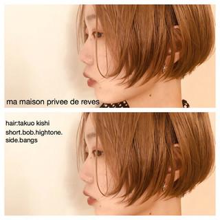 ショート 色気 ボブ 外国人風カラー ヘアスタイルや髪型の写真・画像