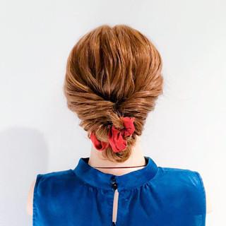 結婚式 ロング フェミニン 簡単ヘアアレンジ ヘアスタイルや髪型の写真・画像 ヘアスタイルや髪型の写真・画像