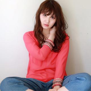 ロング 大人女子 大人かわいい フェミニン ヘアスタイルや髪型の写真・画像 ヘアスタイルや髪型の写真・画像