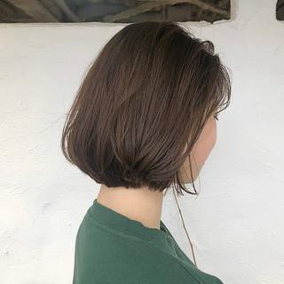 ショートボブ ナチュラル ウェット感 ボブ ヘアスタイルや髪型の写真・画像