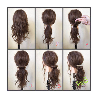 ポニーテール ナチュラル ローポニーテール ロング ヘアスタイルや髪型の写真・画像 ヘアスタイルや髪型の写真・画像