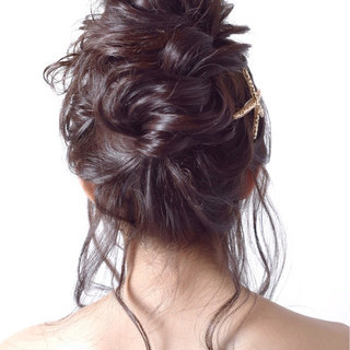 ヘアアレンジ お団子 ロング パーティ ヘアスタイルや髪型の写真・画像 ヘアスタイルや髪型の写真・画像