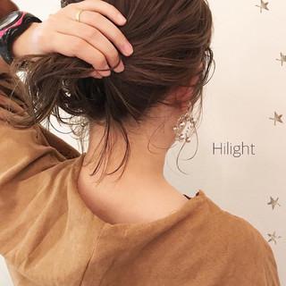 ハイライト 伸ばしかけ ボブ ミディアム ヘアスタイルや髪型の写真・画像