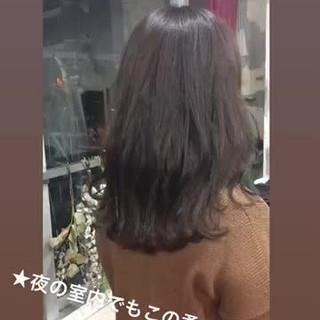 韓国ヘア ヘアアレンジ フェミニン グレージュ ヘアスタイルや髪型の写真・画像