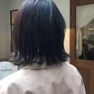 ボブ デート ナチュラル インナーカラー ヘアスタイルや髪型の写真・画像