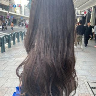 グラデーションカラー アッシュグラデーション グラデーション ネイビーブルー ヘアスタイルや髪型の写真・画像