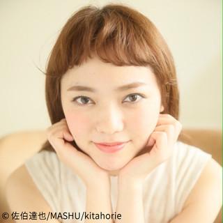 ロング ナチュラル ピュア 前髪あり ヘアスタイルや髪型の写真・画像