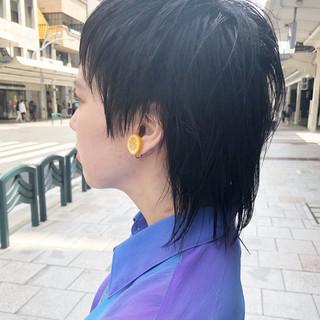ショート ウルフカット マッシュウルフ ウルフ ヘアスタイルや髪型の写真・画像