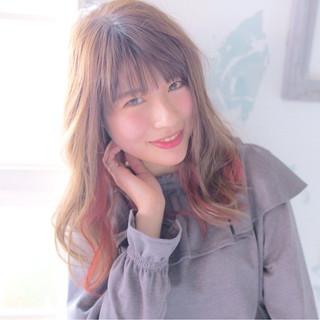 ナチュラル 大人女子 ゆるふわ セミロング ヘアスタイルや髪型の写真・画像