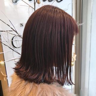 ナチュラル ピンク ラベンダーピンク ベージュ ヘアスタイルや髪型の写真・画像