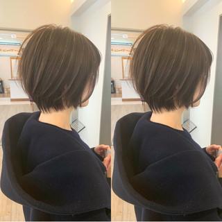 ボブ ナチュラル ショートボブ ショートパーマ ヘアスタイルや髪型の写真・画像