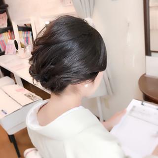 ミディアム エレガント 和装 上品 ヘアスタイルや髪型の写真・画像 ヘアスタイルや髪型の写真・画像