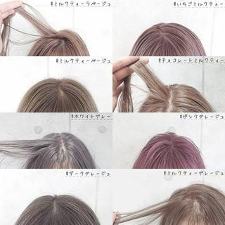 ガーリー 切りっぱなしボブ ショートボブ 透明感 ヘアスタイルや髪型の写真・画像