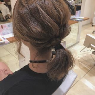 女子会 ヘアアレンジ 簡単ヘアアレンジ ナチュラル ヘアスタイルや髪型の写真・画像