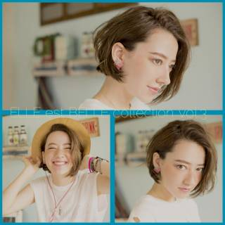 ナチュラル 抜け感 男ウケ ボブ ヘアスタイルや髪型の写真・画像