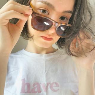 透明感 ガーリー ショート 色気 ヘアスタイルや髪型の写真・画像