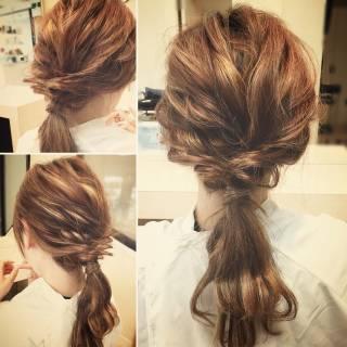 パーティ 結婚式 ゆるふわ ヘアアレンジ ヘアスタイルや髪型の写真・画像 ヘアスタイルや髪型の写真・画像