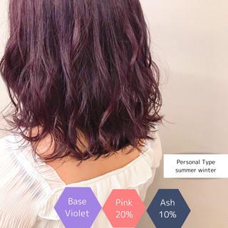 ハイトーンカラー アディクシーカラー フェミニン サロンモデル ヘアスタイルや髪型の写真・画像