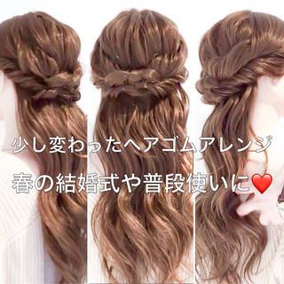 デート オフィス フェミニン ヘアアレンジ ヘアスタイルや髪型の写真・画像 ヘアスタイルや髪型の写真・画像