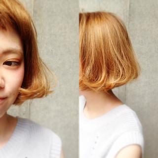 グラデーションカラー ストリート ボブ 外国人風 ヘアスタイルや髪型の写真・画像