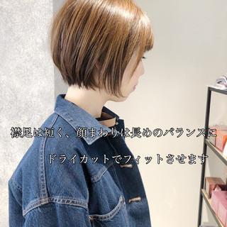 ハンサムショート ショート ナチュラル 銀座美容室 ヘアスタイルや髪型の写真・画像