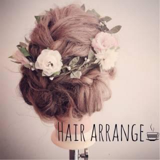 ゆるふわ コンサバ フェミニン ヘアアレンジ ヘアスタイルや髪型の写真・画像