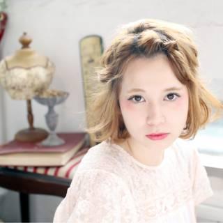外国人風 ヘアアレンジ ミディアム 愛され ヘアスタイルや髪型の写真・画像