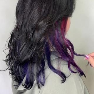 インナーカラー イルミナカラー 髪質改善 ユニコーンカラー ヘアスタイルや髪型の写真・画像