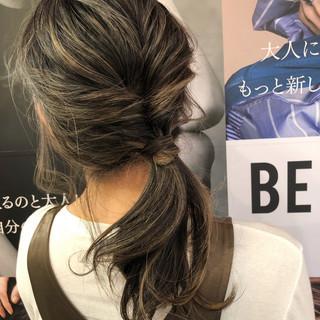 セミロング アウトドア ヘアアレンジ デート ヘアスタイルや髪型の写真・画像 ヘアスタイルや髪型の写真・画像