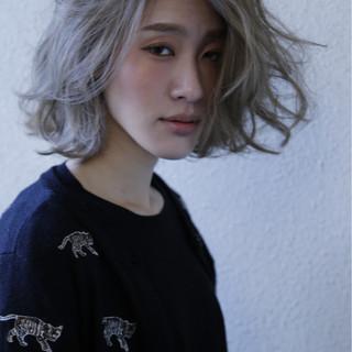 モード ボブ 外ハネ こなれ感 ヘアスタイルや髪型の写真・画像