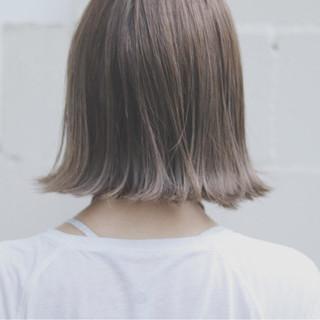 オルチャン 透明感 グレージュ ナチュラル ヘアスタイルや髪型の写真・画像