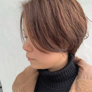 ショートヘア ヘアカラー ショート 簡単スタイリング ヘアスタイルや髪型の写真・画像