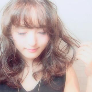 アッシュ 外国人風 パーマ 大人かわいい ヘアスタイルや髪型の写真・画像