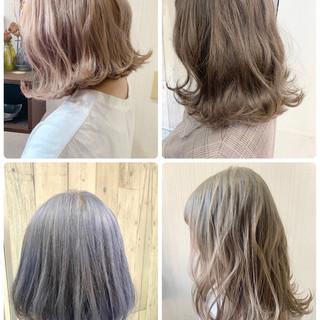フェミニン 外国人風 アンニュイほつれヘア ブリーチ ヘアスタイルや髪型の写真・画像