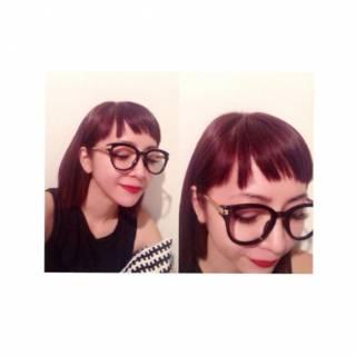 外国人風 秋 モード ストレート ヘアスタイルや髪型の写真・画像