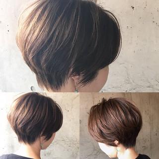 ベリーショート ショートボブ ナチュラル ショート ヘアスタイルや髪型の写真・画像