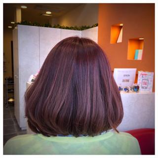 ガーリー 春 ハイライト ピンク ヘアスタイルや髪型の写真・画像