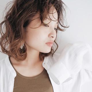 デジタルパーマ 外国人風 ゆるふわ パーマ ヘアスタイルや髪型の写真・画像