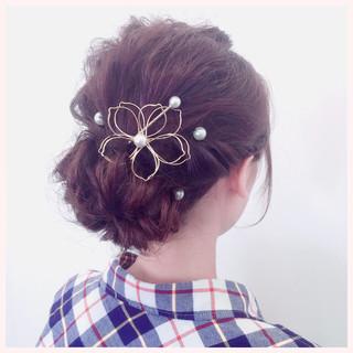 結婚式 ロング 編み込み ねじり ヘアスタイルや髪型の写真・画像 ヘアスタイルや髪型の写真・画像