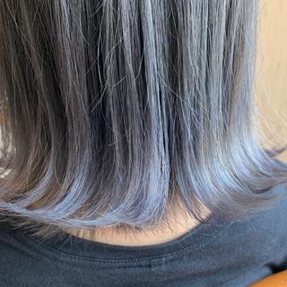 ボブ モード 外ハネボブ アッシュグラデーション ヘアスタイルや髪型の写真・画像