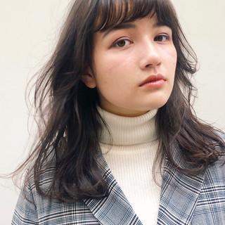 うる艶カラー レイヤーカット スウィングレイヤー ミディアム ヘアスタイルや髪型の写真・画像